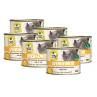 kattenvoeding Overgewicht 6x200 gram