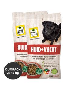 Huid&Vacht hondenbrokken 2x12 kg