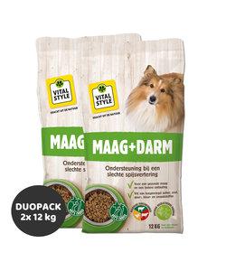 Maag+Darm hondenbrokken 2x12 kg