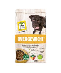 Overgewicht hondenbrokken 1.5 kg