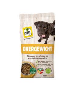 Overgewicht hondenbrokken 12 kg