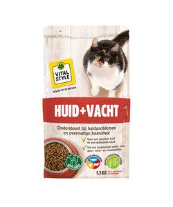 Huid en Vacht kattenbrokken 1,5 kg