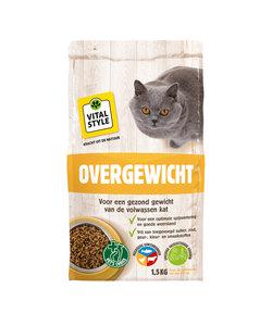 Overgewicht kattenbrokken 1,5 kg