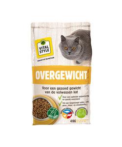 Overgewicht kattenbrokken 4 kg