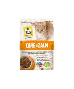 Care met zalm kattenbrokken 400 gr