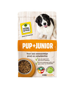 Pup + Junior hondenbrokken 8 kg