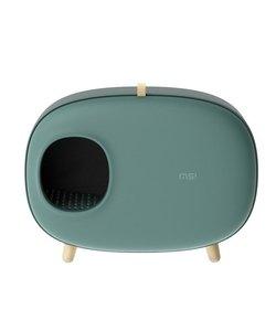 design kattenbak met lade (groen)