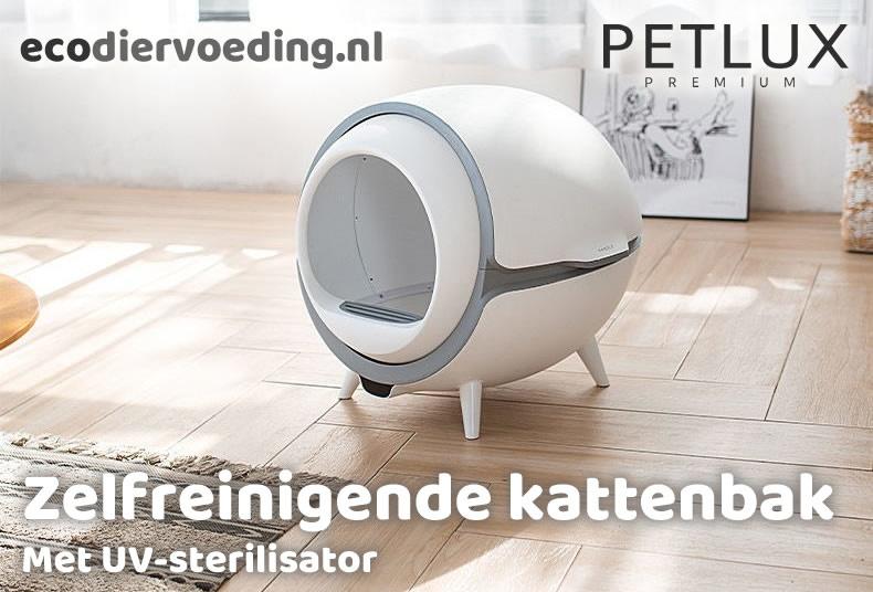 Geen stinkende kattenbak meer | Ecodiervoeding.nl PETLUX automatische kattenbak