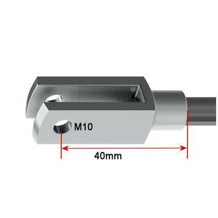 HG Gaffel M10 x 40mm met snelklem