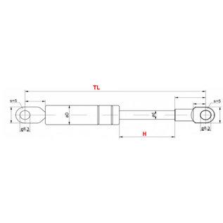 HG Gasveer 140-350 oog-oog 500N