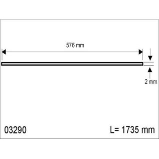 Hapro Acrylplaat airco 3 mm