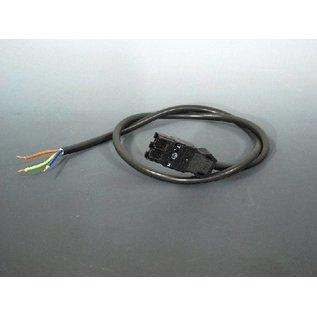 Hapro Klemme 3 polig + Kabel Schwarz