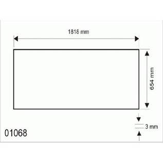 Hapro Acrylplaat Hapro Opal Bank, 1818x654x3mm