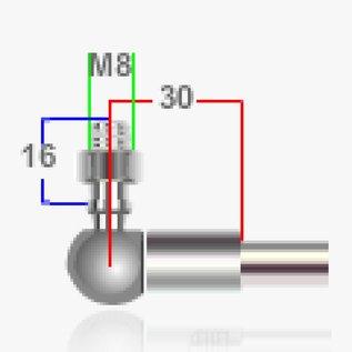 Alisun Ball joint M8 - M8 30mm