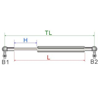 Hapro Gas spring 800N (also replaces 850N)