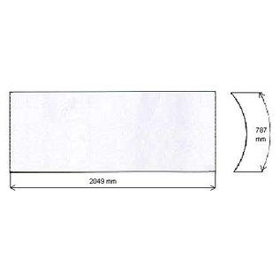 Sunvision Original gebogene Acryscheibe für Alisun Sunvision Liege mit Länge 2049mm
