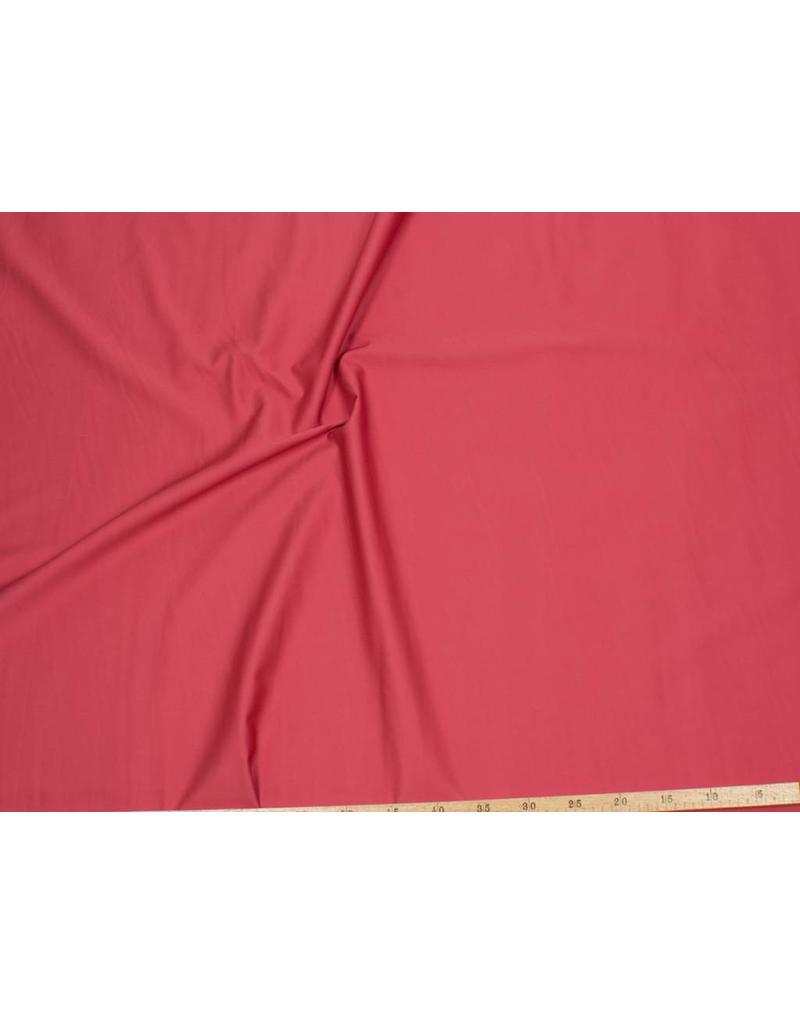 Satin Cotton Uni 0065 - coral red