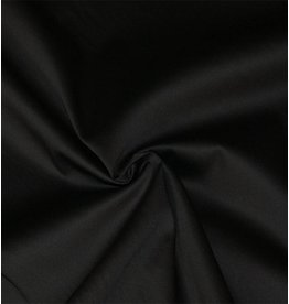 Cotton Satin Uni 0011 - black