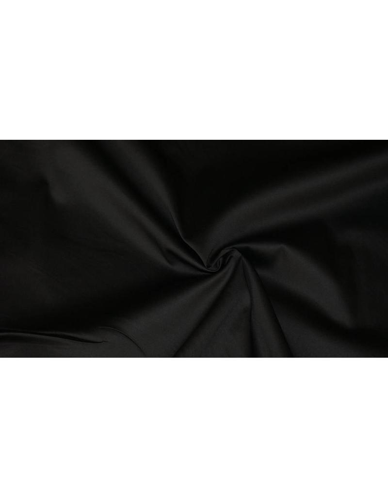 Baumwollsatin Uni 0011 - schwarz