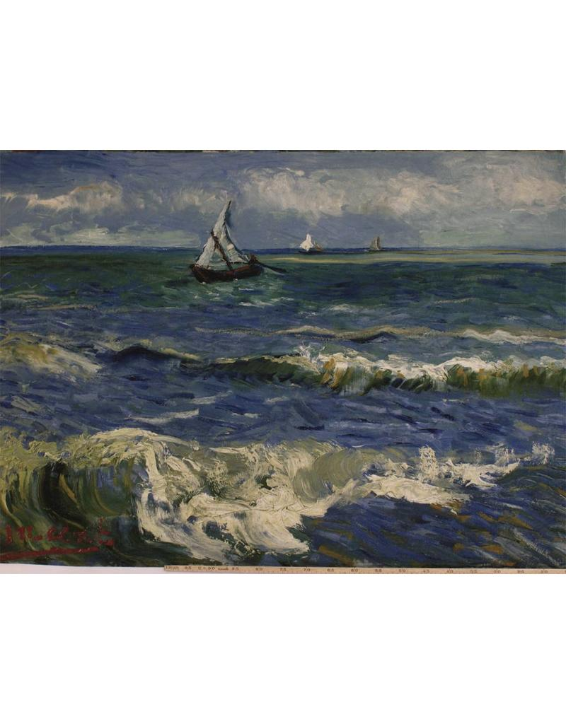 Jersey Inkjet 737 - Zeegezicht bij Les Saintes-Maries-de-la-Mer  Vincent van Gogh, juni 1888