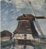 Baumwolle Inkjet 508  - In de maand juli. Een molen aan een poldervaart,  Constant Gabriël