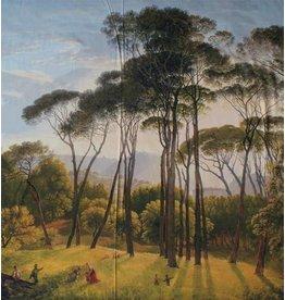 Brillant Coton Inkjet 110 - Italiaans landschap met parasoldennen, Hendrik Voogd