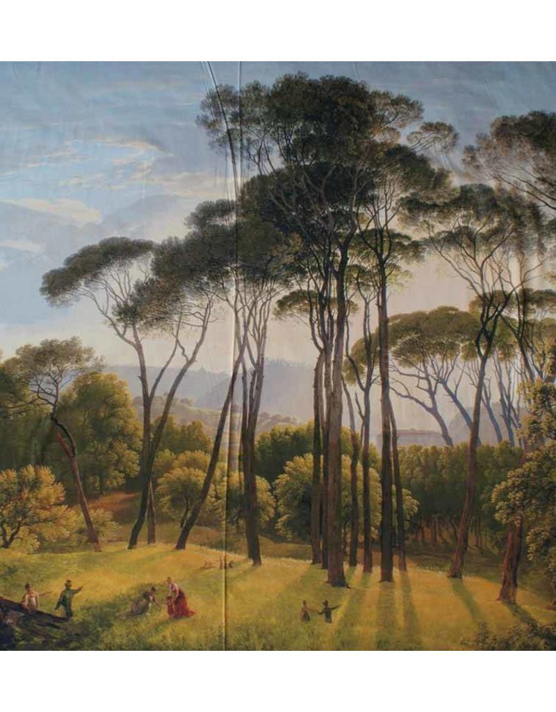 Glans Katoen Inkjet 110 - Italiaans landschap met parasoldennen, Hendrik Voogd