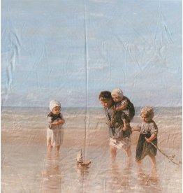 Glans Katoen Inkjet 709 - Kinderen der Zee, Jozef Israëls