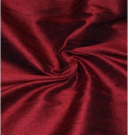 Dupion Silk D8 - dark red