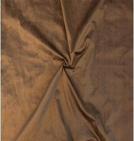 Dupion Silk D24 - saddle brown