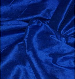 Soie de Dupion D1 - bleu de cobalt