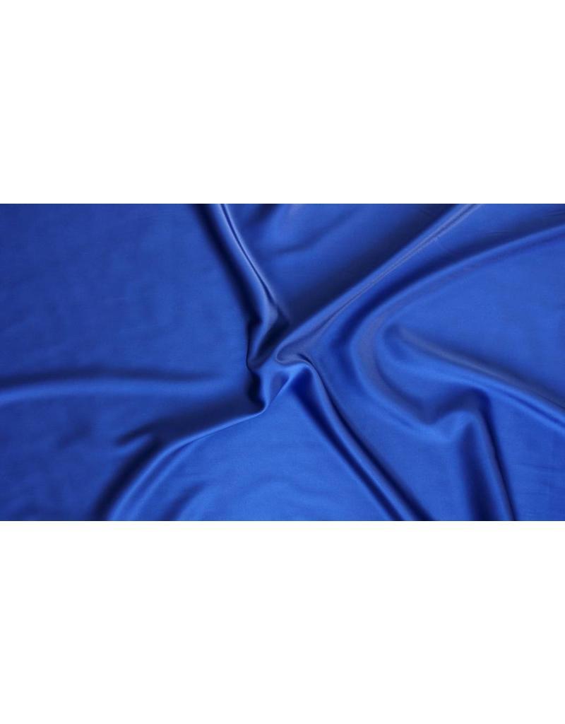 Stretch Seide D22 - dunkel Kobaltblau