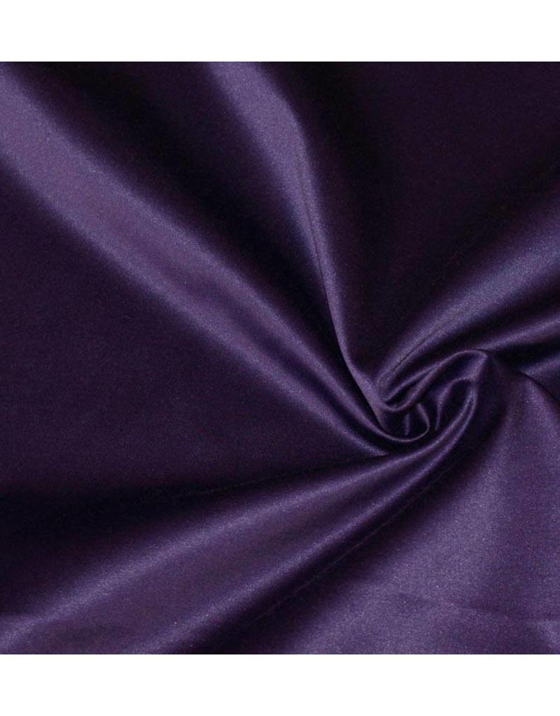Glanz Baumwolle Uni S7 - dunkelviolett