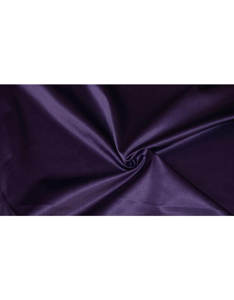 Glänzende Baumwolle Uni S7 - dunkelviolett