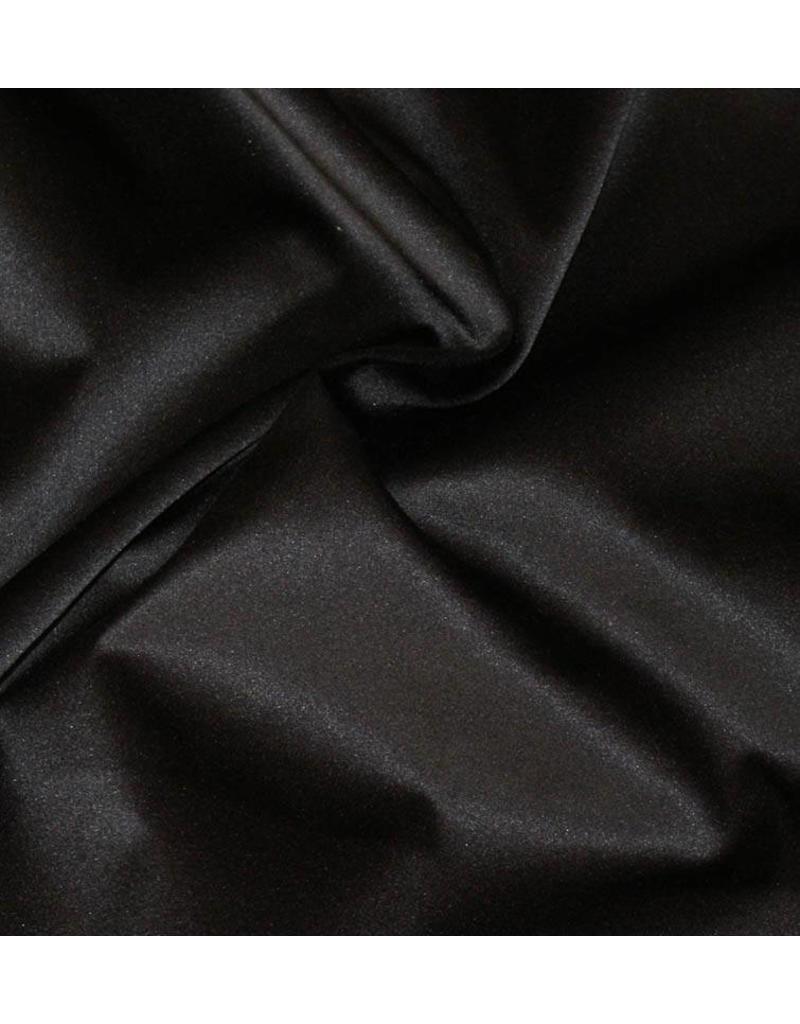 Glänzende Baumwolle Uni S01 - schwarz