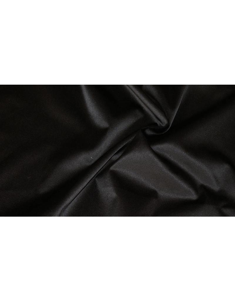 Glänzende Baumwolle Uni S1 - schwarz