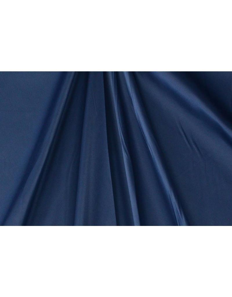 Coton brillant Uni S22 - bleu acier