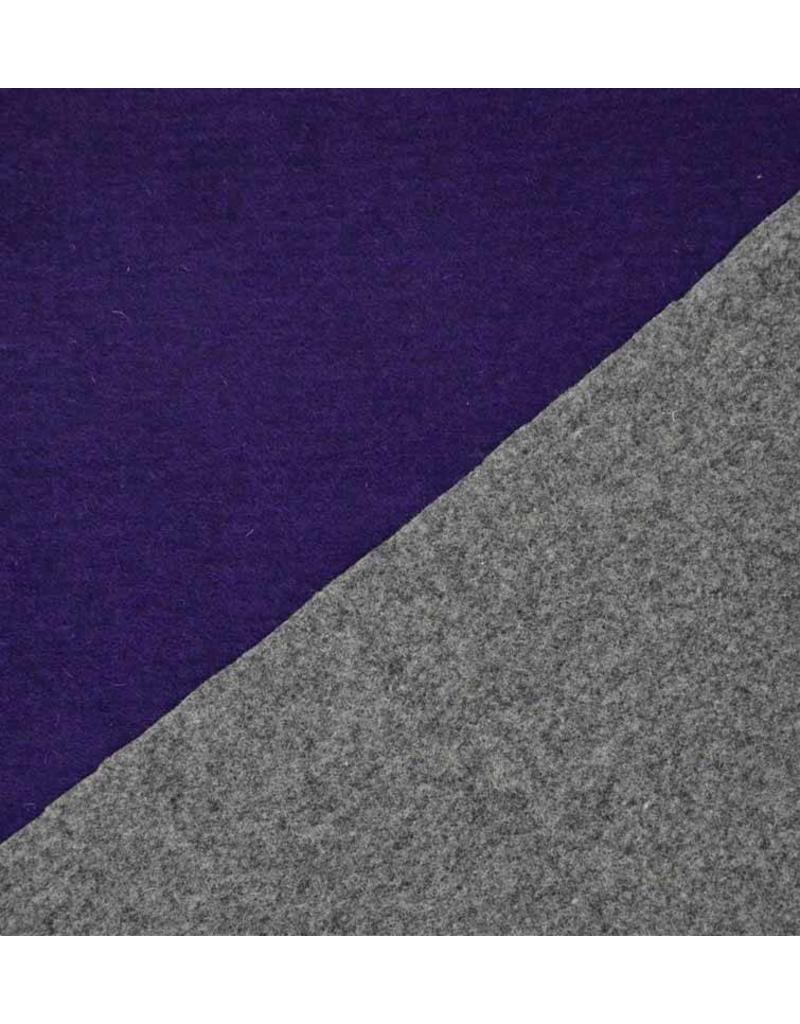 Double Face W22 - purple / grey