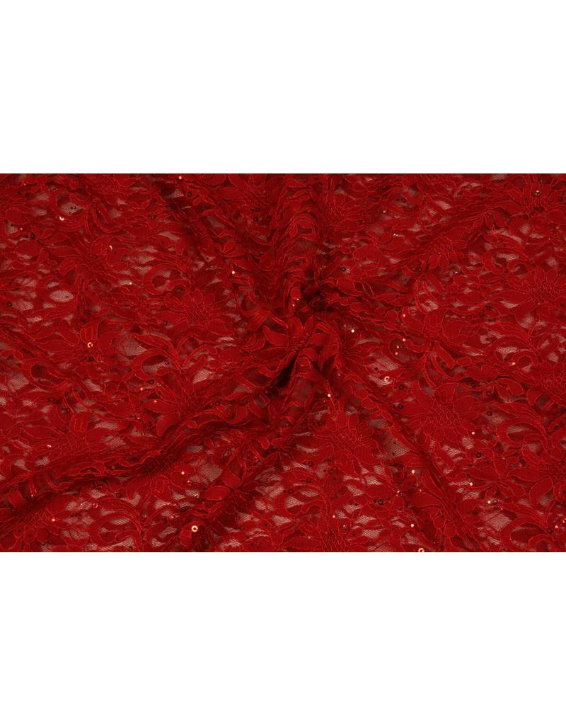 Lace with Sequins KG01 - red