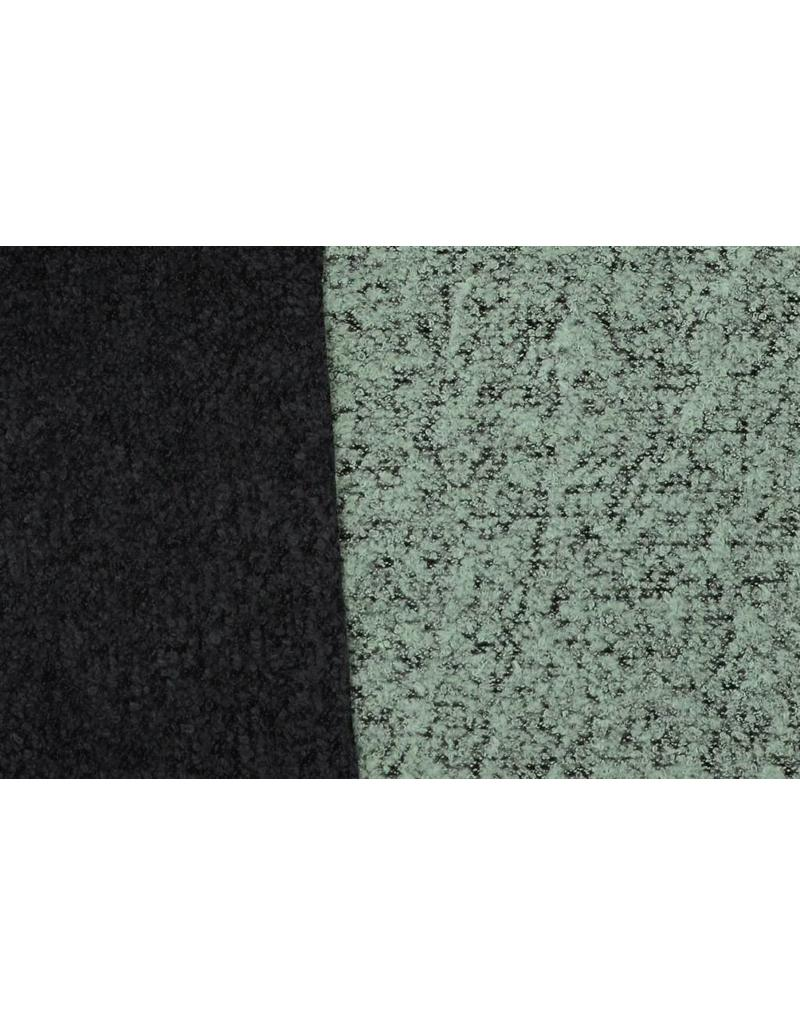 Double Face Bouclé BB17 - powder green / black