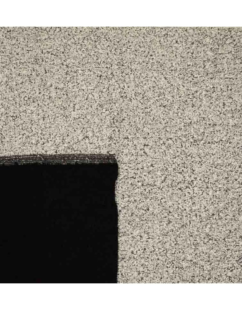 Double Face Bouclé BB15 - licht grijs / zwart