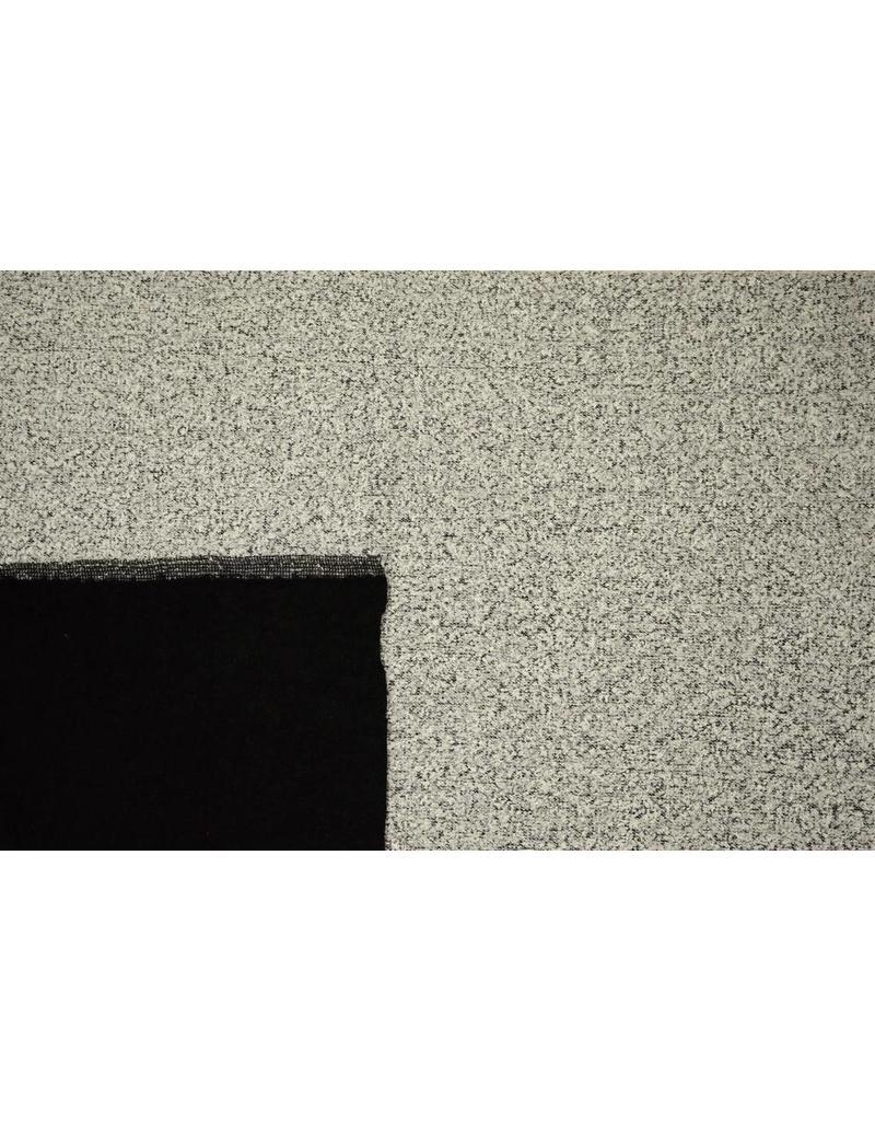 Double Face Bouclé DFB04 - licht grijs / zwart