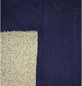 Double Face Bouclé DFB03 - marineblauw / grijs