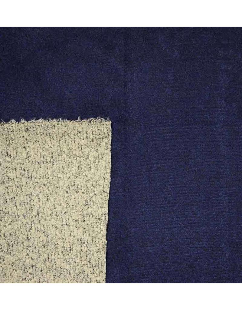 Double Face Bouclé BB12 - bleu marine / gris