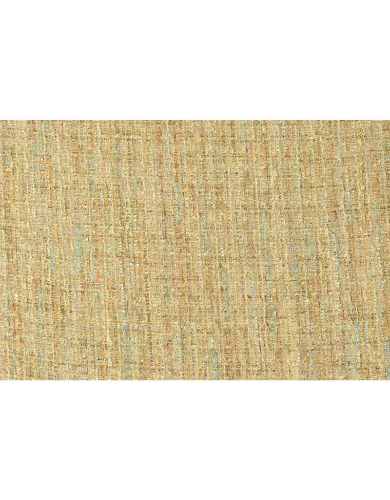 Coarse fabric W97 - beige / turquoise