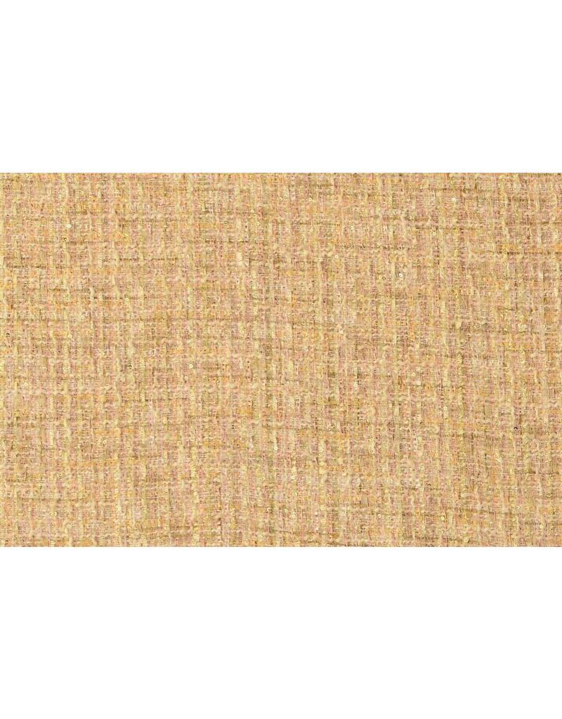 Coarse fabric W96 - beige / pink