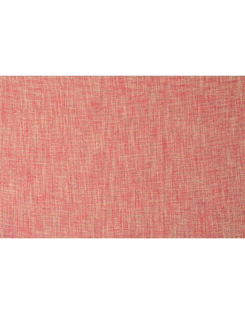 Grof weefsel W98 - roze / crème