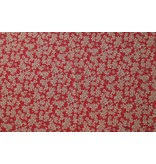 Jacquard 1007 - red / taupe