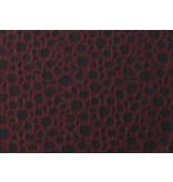 Jacquard 1070 - donkerrood/zwart