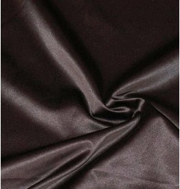 Glänzende Baumwolle Uni S8 - schokoladenbraun
